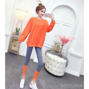 Western style aging long sleeve + contrast color leggings