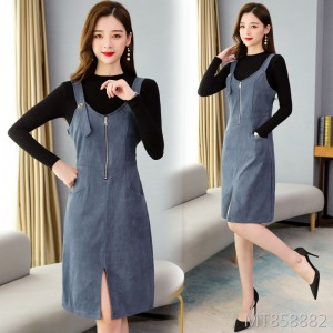 Sweater two-piece suit strap skirt was thin mm dress reduced age