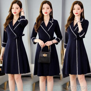 New slimming mid-length coat dress