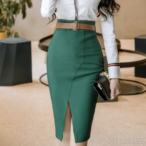 Goddess fan one-step skirt with high waist and thin waist