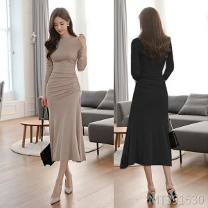 Temperament waist was thin high-end light cooked style long sleeve base