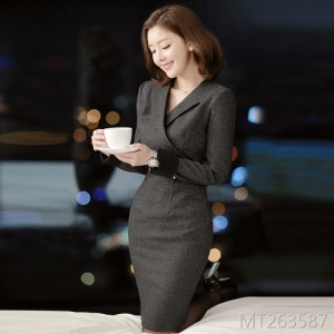 High-end ladies white-collar female skirt Korean temperament goddess fan