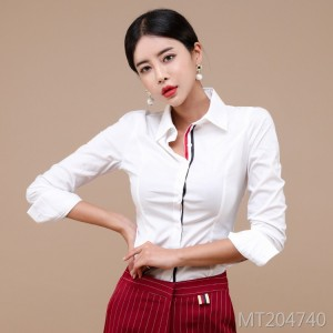Korean office worker temperament stylish shirt