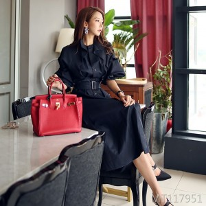 New Korean women's spring and autumn chic dignified atmospheric coat