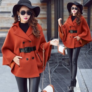 Korean version of thick and medium long woolen coat