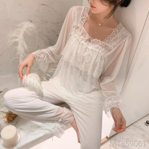 Home service suit female lace princess Korean modal pyjamas