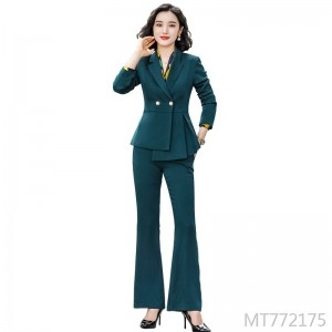 Business wear green suit two-piece suit