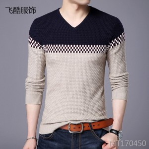 Fashionable Slim Korean V-neck Pullover Bottoming Shirt