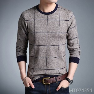 Korean wild bottoming shirt thick round neck men's sweater
