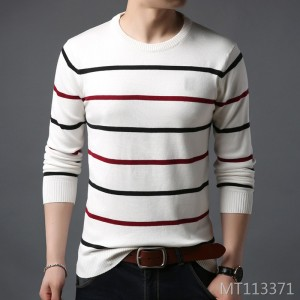 Casual Korean Slim Round Neck Sweater Knit Men's Bottoming Shirt