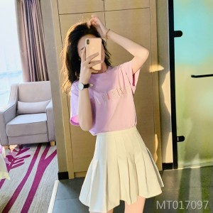 2020 summer cotton multicolored embroidery loose ladies short sleeve T-shirt
