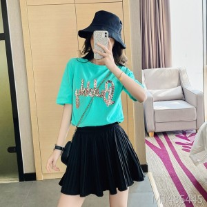 2020 summer new beaded letters loose Korean short-sleeved T-shirt women
