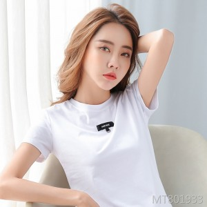 2020 summer new simple small ribbon short-sleeved t-shirt blouse