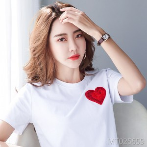 2020 summer cotton loose love Zhang Zi short sleeve t-shirt women