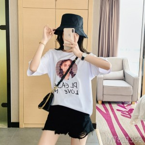 2020 early spring and summer new women's loose round neck short sleeve t-shirt women