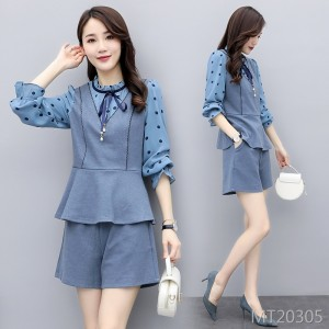 Long-sleeved suit / skirt casual personality temperament