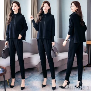 Two-piece Korean solid color trendy long sleeve