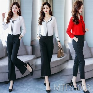 2020 spring and autumn clothing new professional casual women's shirt suit
