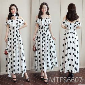 2020 summer new wave dot sweet print dress