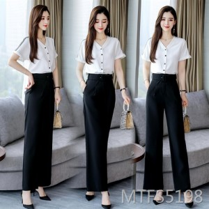 2020 summer new women's fashion casual shirt pants suit