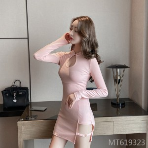 Cutout Sexy Slim Improved Cheongsam Dress