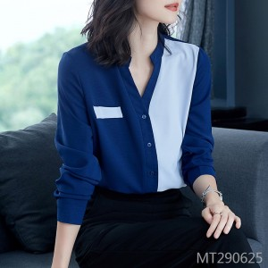 Chiffon shirt with raglan sleeves