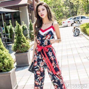 9-point pants small floral dress sexy dress two-piece