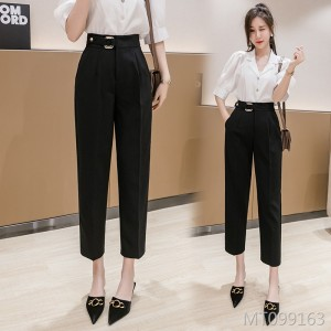 2020 new loose-fitting black pants are slim and versatile