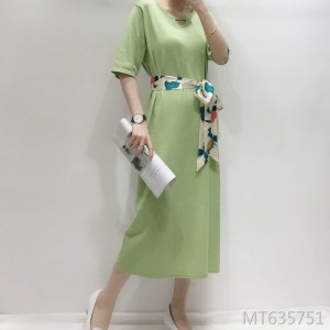 2020 new Hepburn Manny knitted thin dress