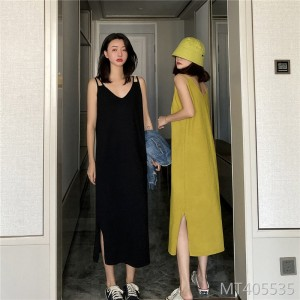 2020 new loose women's dress knitted camisole skirt