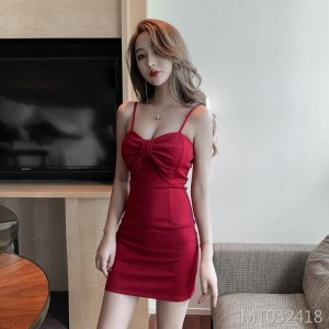 2020 new sexy low-cut V-neck skirt